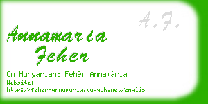 annamaria feher business card